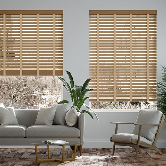 Origin Cool Oak & Tan Wooden Blind
