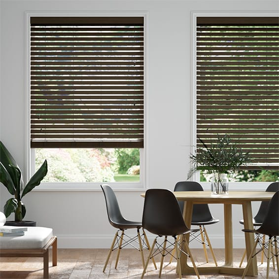 Origin Dark Walnut Wooden Blind