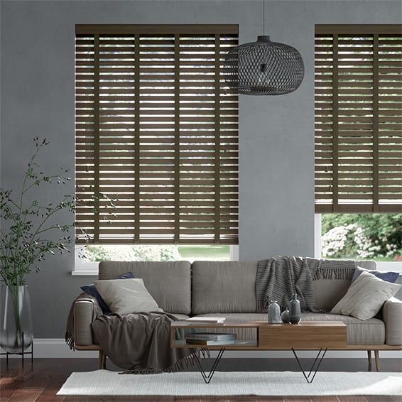 Origin Dark Walnut & Umber Wooden Blind