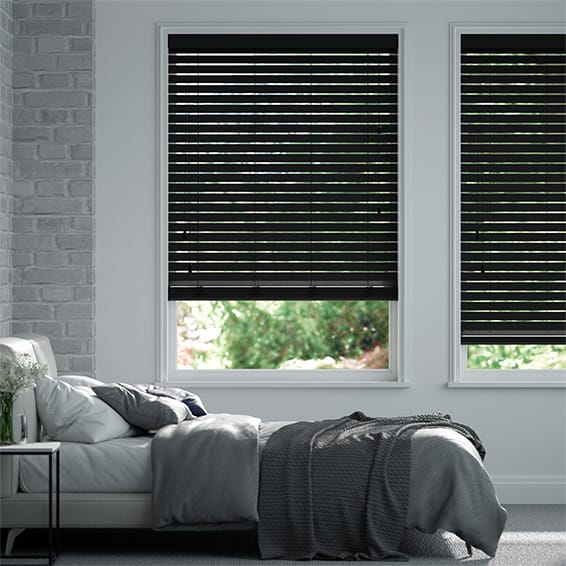 Origin Midnight Black Wooden Blind