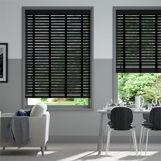 Origin Midnight Black with Black Wooden Blind