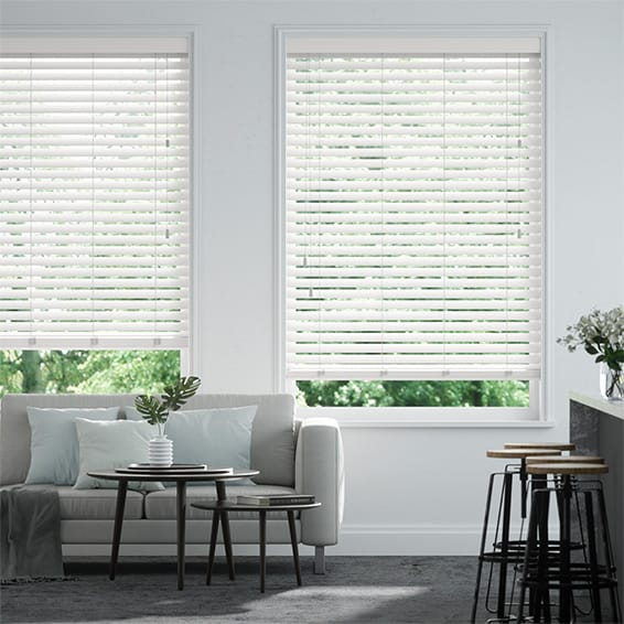 Origin Pure White Wooden Blind