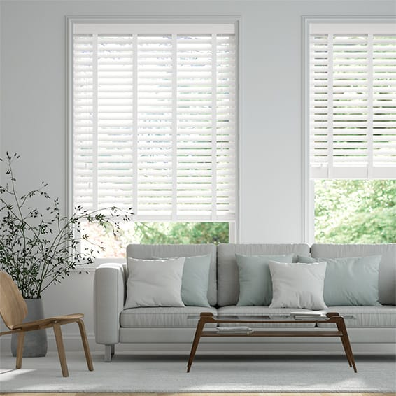 Origin Pure White with Cotton Wooden Blind