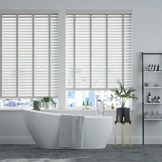 Origin Pure White & Dove Grey Wooden Blind