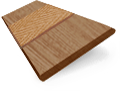 Origin Warm Oak with Oak Wooden Blind sample image