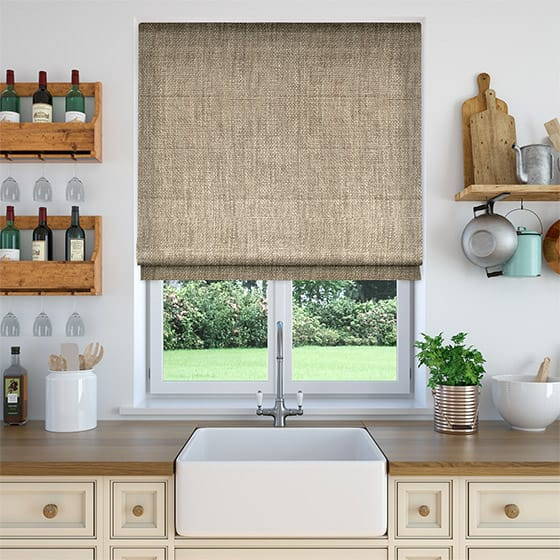 Oscuro Linen Neutral Roman Blind