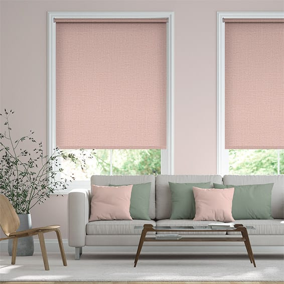 Palma Blackout Blush Roller Blind