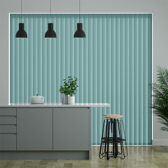 Palma Carolina Blue Vertical Blind