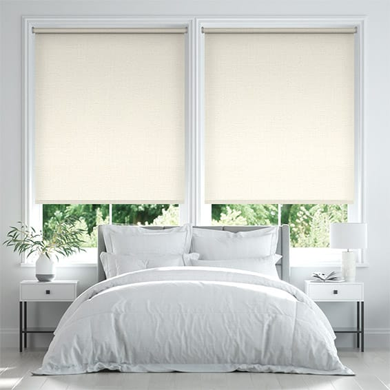 Palma Blackout Pale Mist Roller Blind