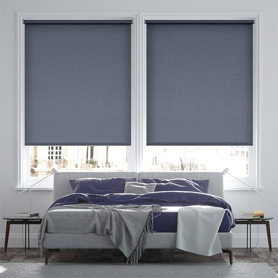 Palma Blackout Violet Blue Roller Blind