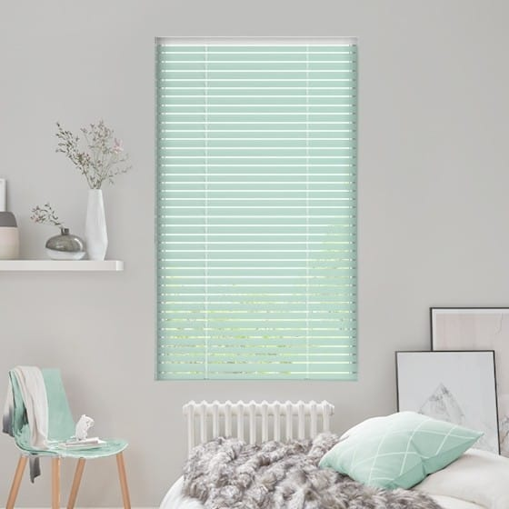 Pea Green Venetian Blind