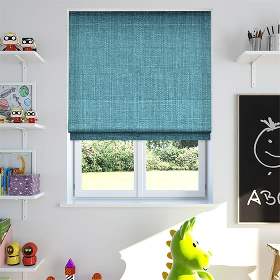 Pembroke Bright Blue Roman Blind