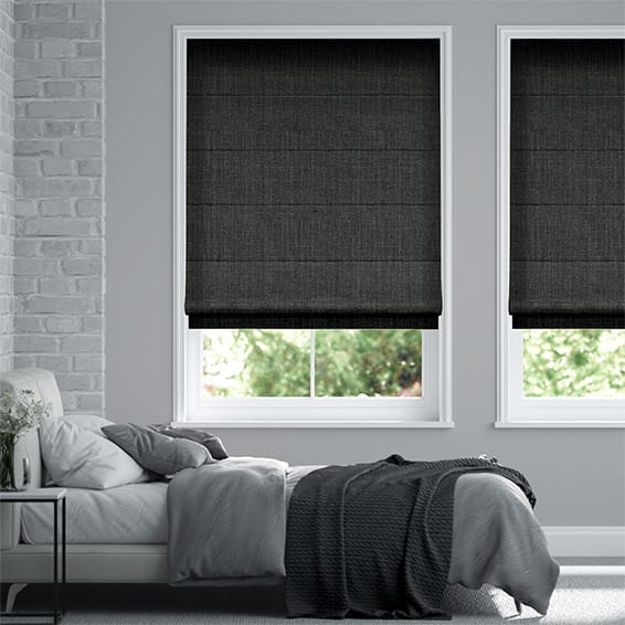 Pembroke Darkest Grey Roman Blind