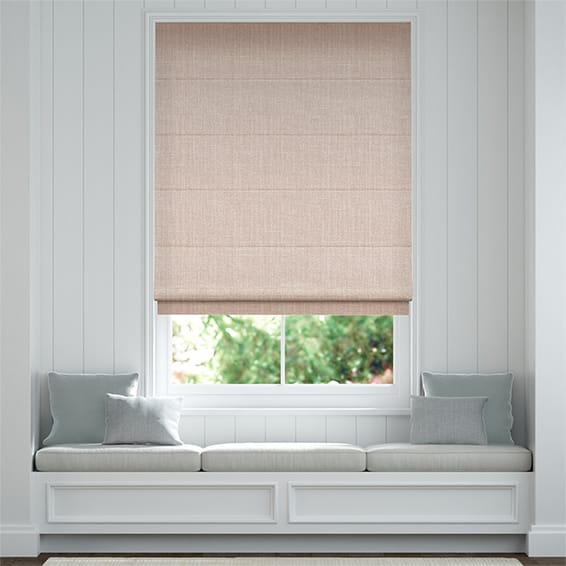 Pembroke Pale Rose Roman Blind