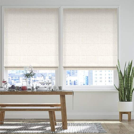 Pembroke Soft White Roman Blind