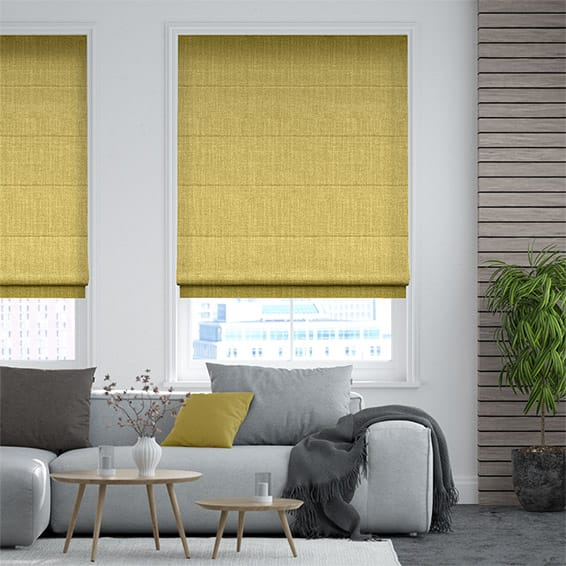 Pembroke Yellow Roman Blind