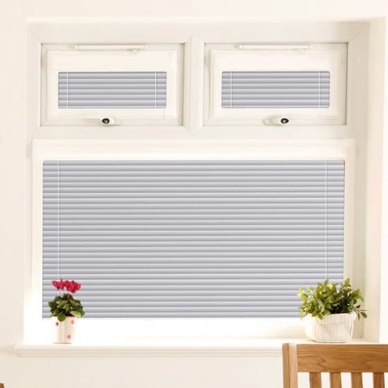 Perfect Fit Bright Silver Venetian Blind