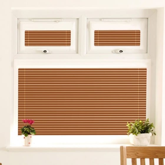 Perfect Fit Crackled Shiny Copper Venetian Blind