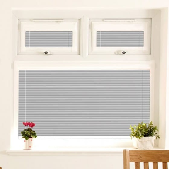 Perfect Fit Crackled Silver Venetian Blind