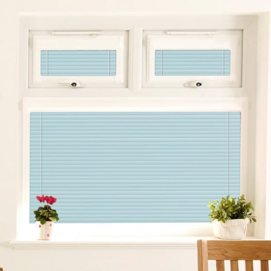 Perfect Fit Eggshell Blue Venetian Blind