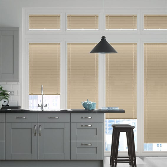 Perfect Fit Golden Silver Venetian Blind