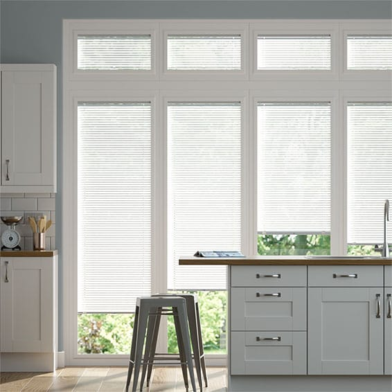 Perfect Fit Pinpoint White Venetian Blind