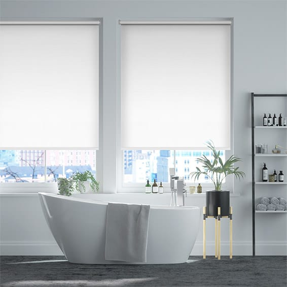 PVC Bright White Roller Blind