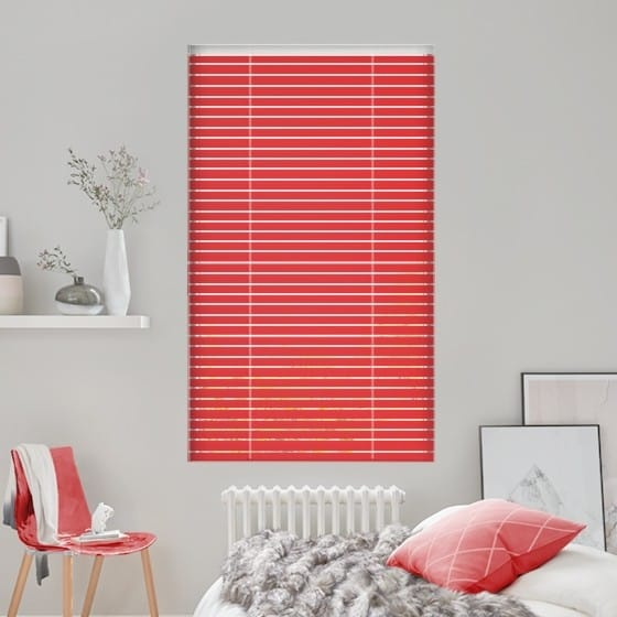 Red Passion Venetian Blind