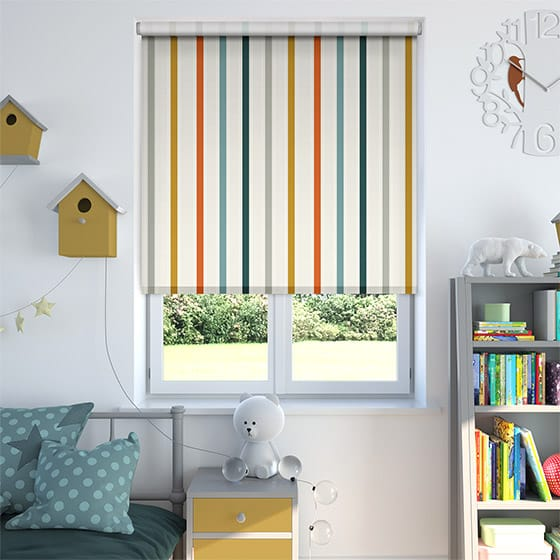 Ribbon Stripe Autumn Roller Blind