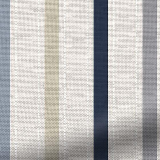 Ribbon Stripe Blue Roman Blind