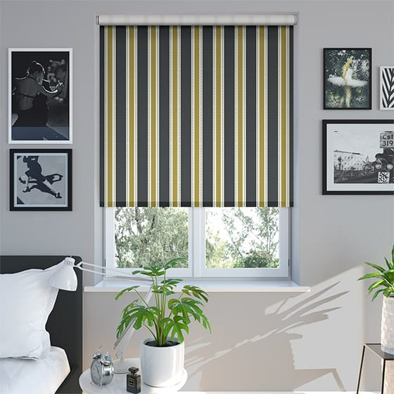 Ribbon Stripe Charcoal Roller Blind