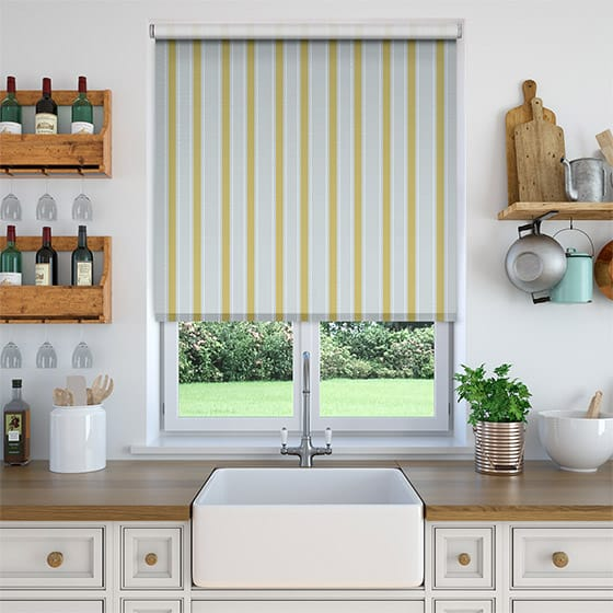 Ribbon Stripe Gold Roller Blind