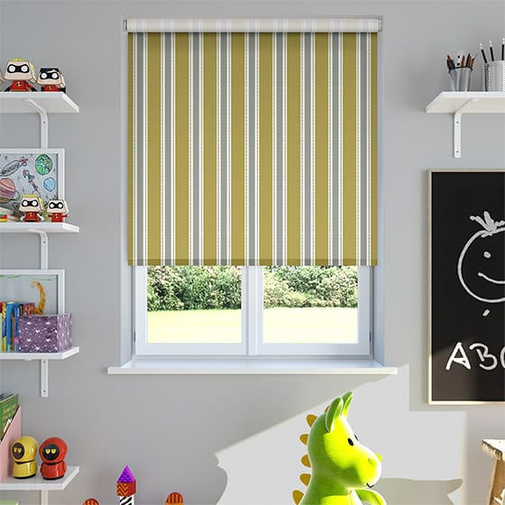 Ribbon Stripe Lemon Roller Blind