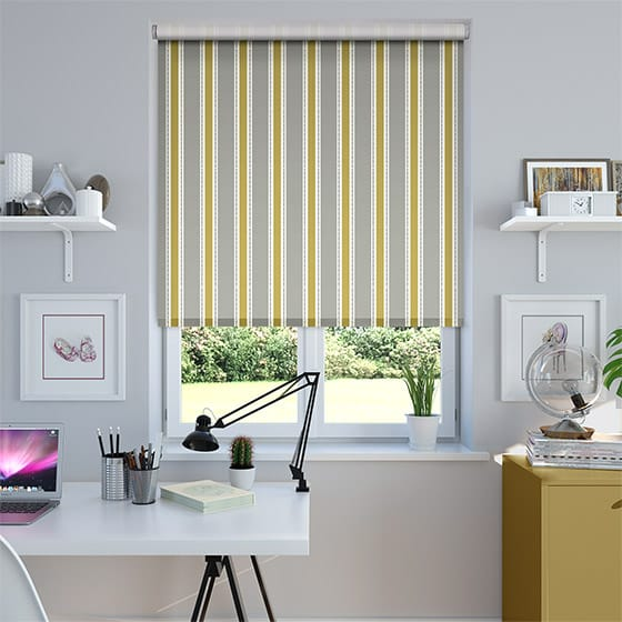 Ribbon Stripe Scandi Grey Roller Blind