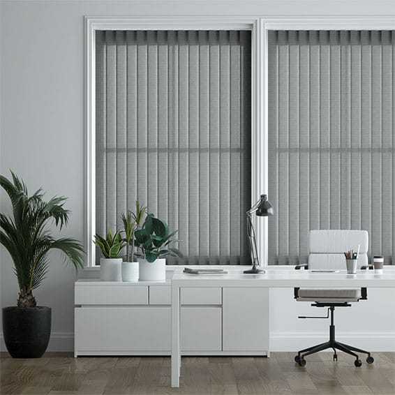 Rotan Noir Vertical Blind