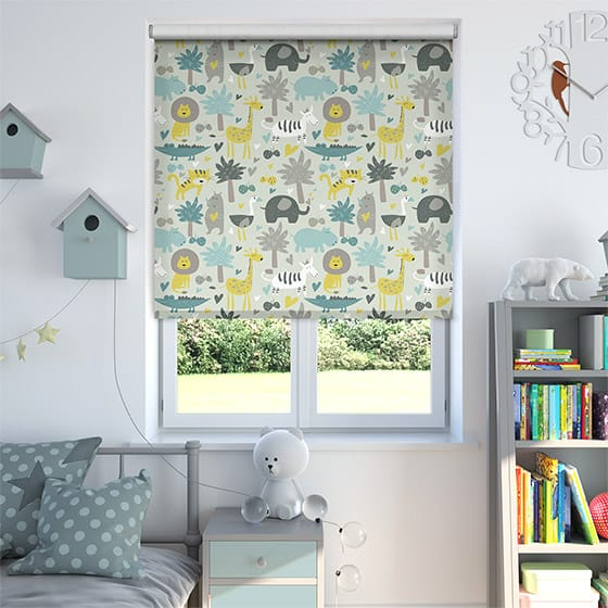 Rumble Jungle Green Blackout Roller Blind
