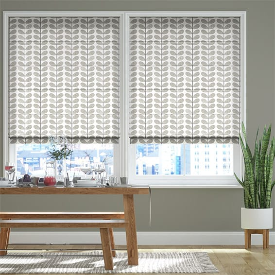 Scribble Stem Grey Roman Blind