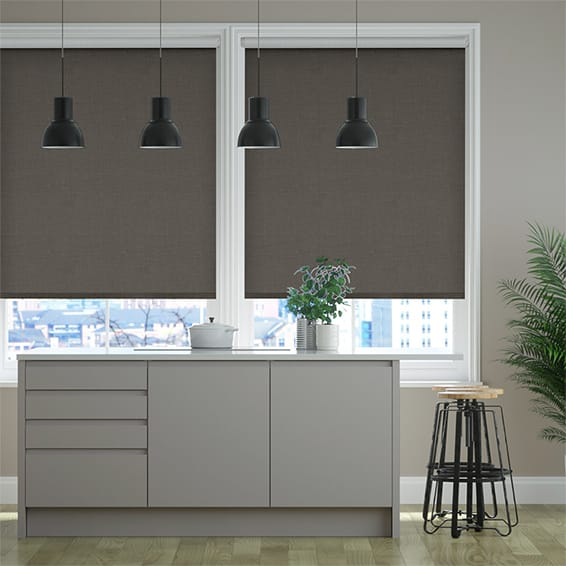 Select Alberta Linen Manhattan Grey  Roller Blind