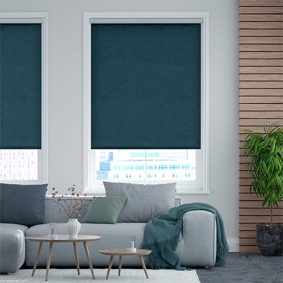 Select Alberta Linen Turkish Blue  Roller Blind