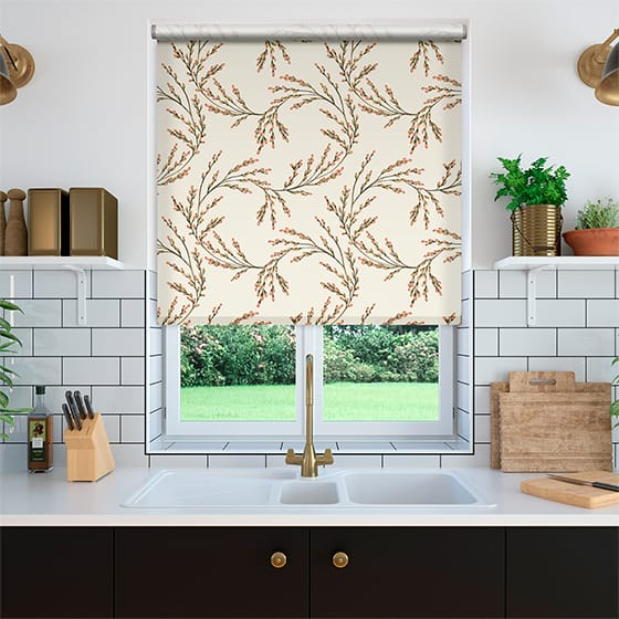Select Budding Twigs Linen Berry Roller Blind