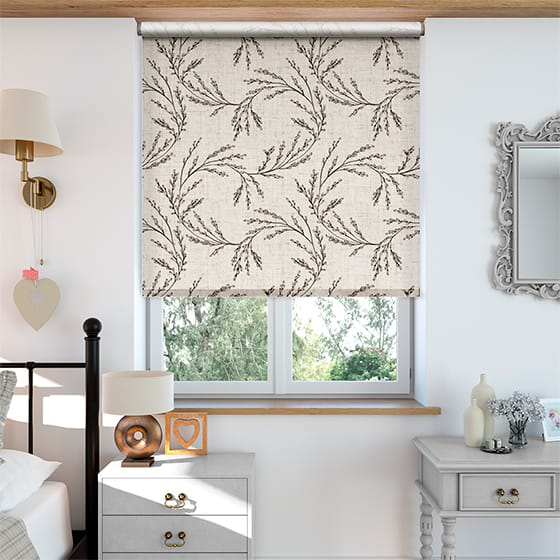 Select Budding Twigs Linen Rustic Neutral Roller Blind