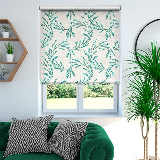 Select Budding Twigs Linen Rustic Spring Roller Blind