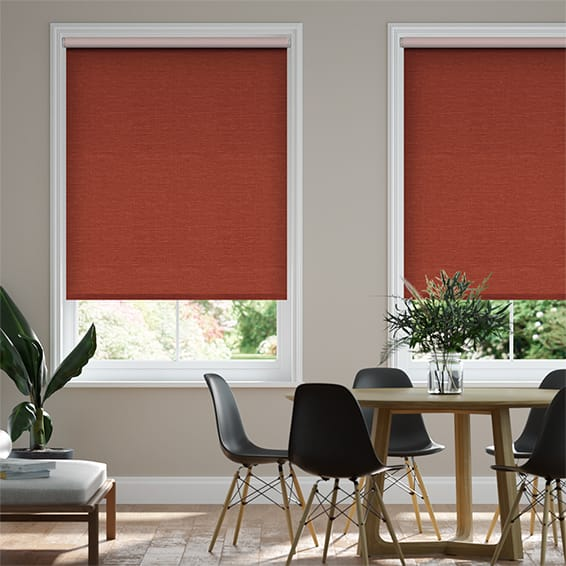 Select Lakeshore Hot Orange Roller Blind