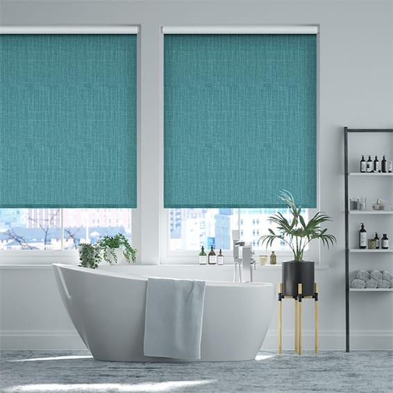 Select Pembroke Bright Blue Roller Blind