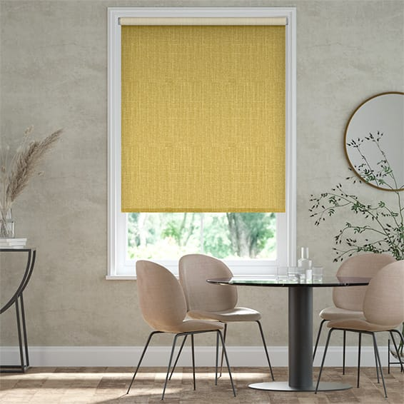 Select Pembroke Yellow Roller Blind
