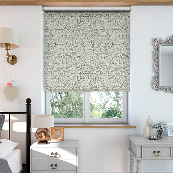 Select Tangled Leaves Linen Grey Roller Blind