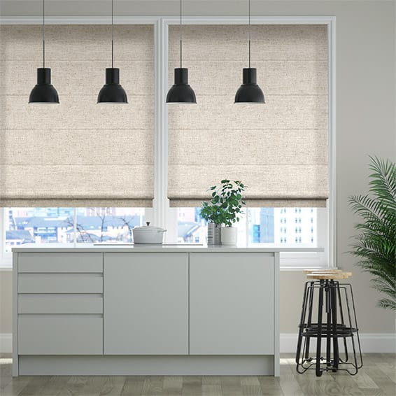 Simply Linen Soft Cream Roman Blind