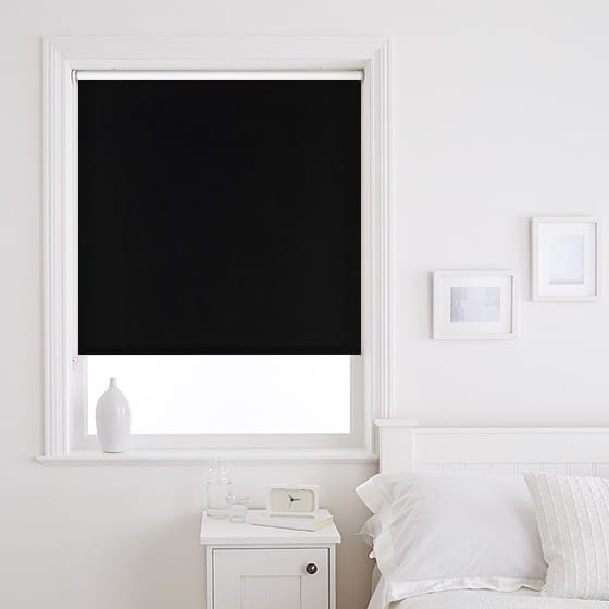 Sleek Black Roller Blind