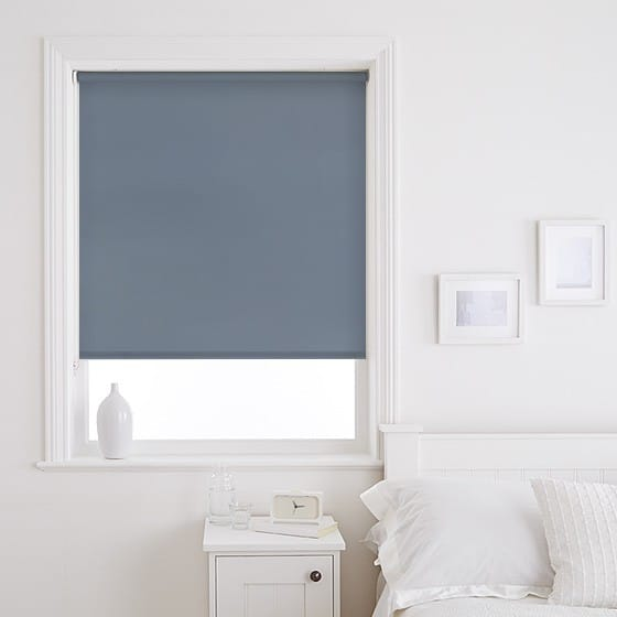 Sleek Blue Roller Blind