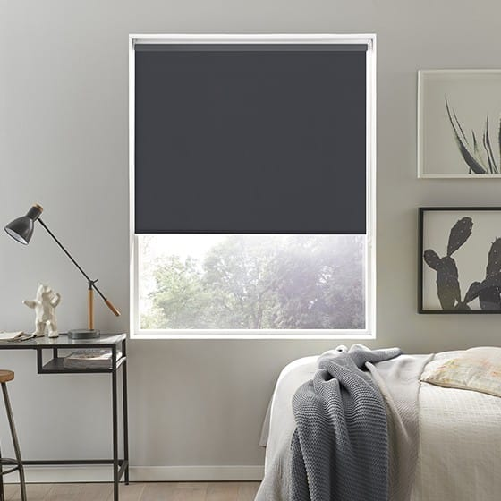 Sleek Charcoal Roller Blind